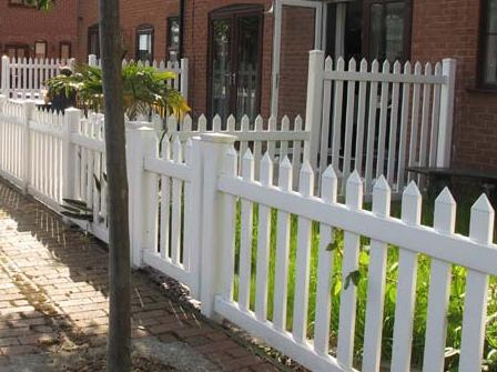 Front Garden uPVC Plastic Picket Fence